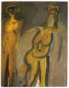 Eva Hesse, Untitled, 1960. Oil on canvas