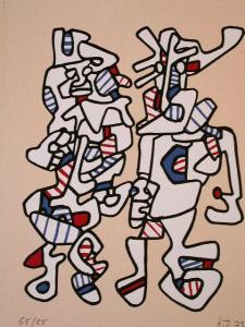 JEAN DUBUFFET Silkscreen French 1973