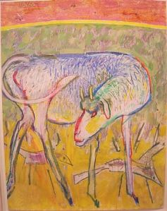 Irving Kriesberg, Goat with Birds