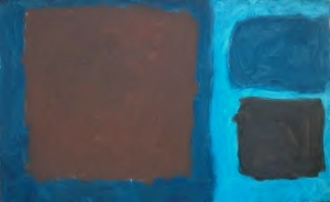 Blues with Brown Area by Patrick Heron