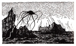 Edward Gorey- Illustration from H.G. Wells War of the Worlds