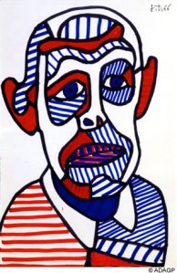 Jean Dubuffet- Self-Portrait