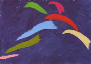 Leap on Blue 1976- Jack Bush