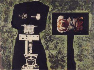 John McHale, Telemath, collage, ca. 1958