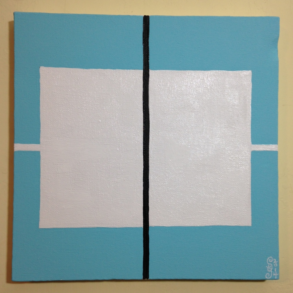 Untitled 121- Tribute to Donald Judd Linda Cleary 2014 Acrylic on Canvas