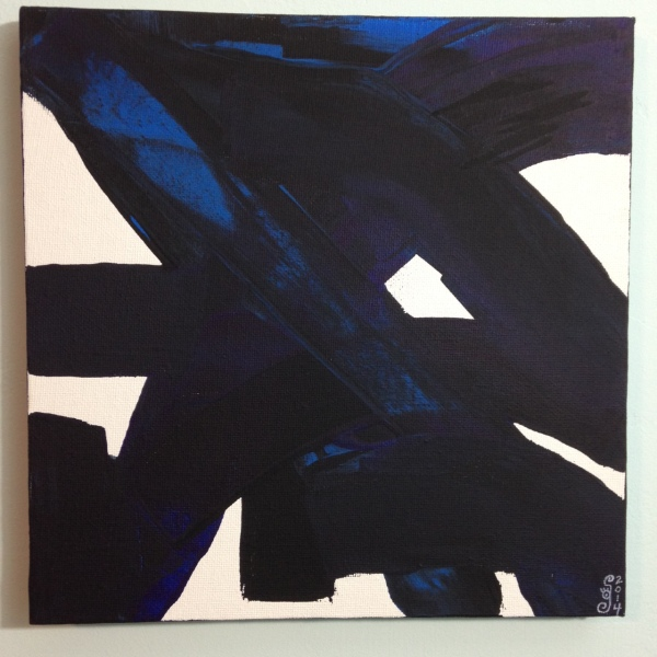 Peinture CXXXIV- Tribute to Pierre Soulages Linda Cleary 2014 Acrylic on Canvas