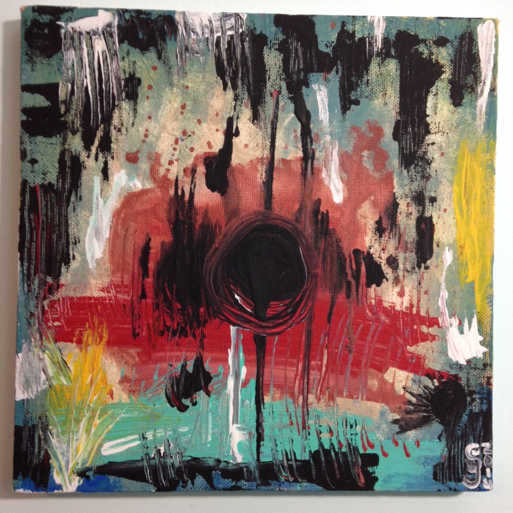 Untitled 135- Tribute to Wols Linda Cleary 2014 Acrylic on Canvas