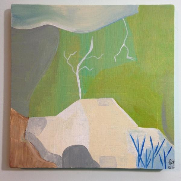 Mountain- Tribute to Kenzo Okada Linda Cleary 2014 Acrylic on Canvas