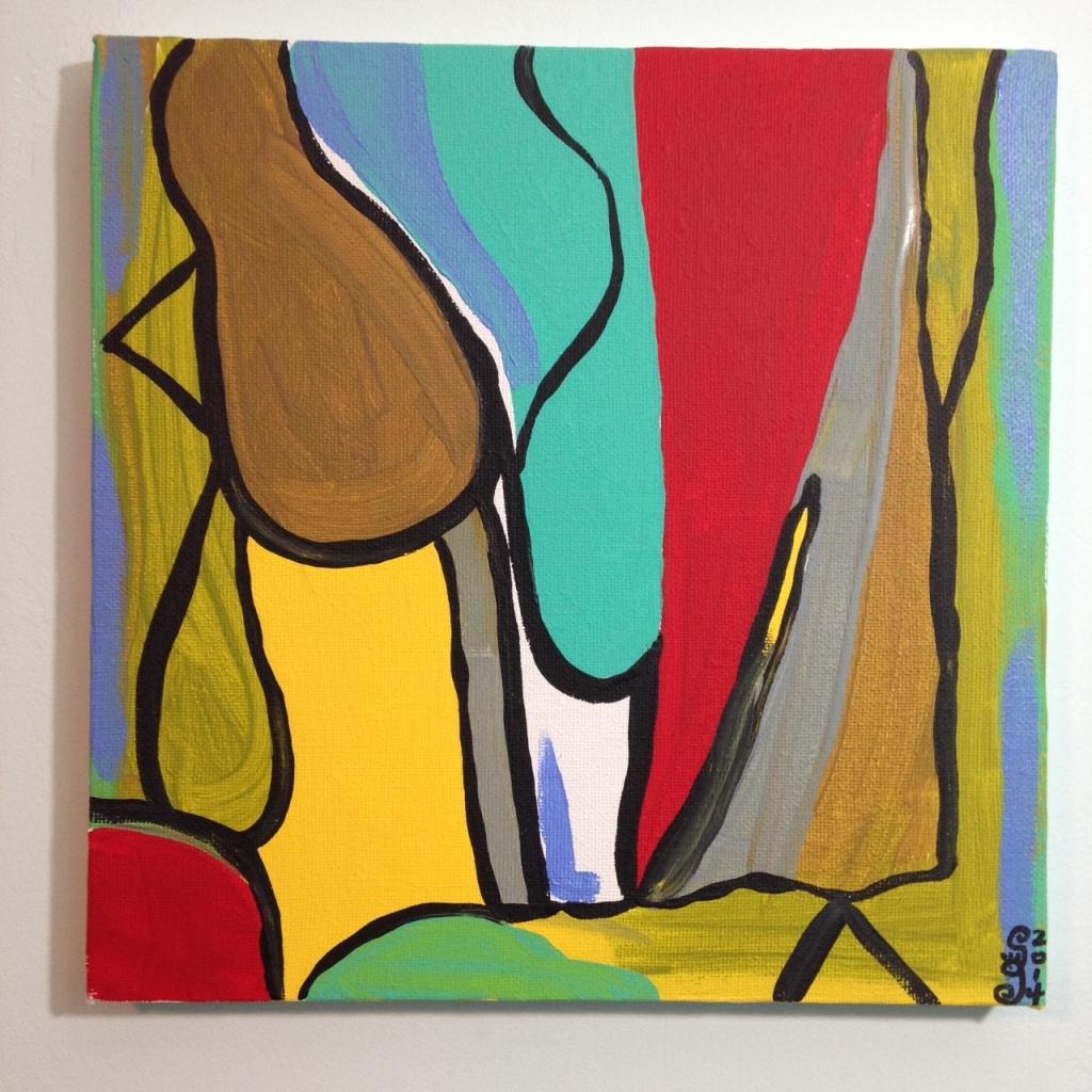 Untitled 142- Tribute to Bram Van Velde Linda Cleary 2014 Acrylic on Canvas