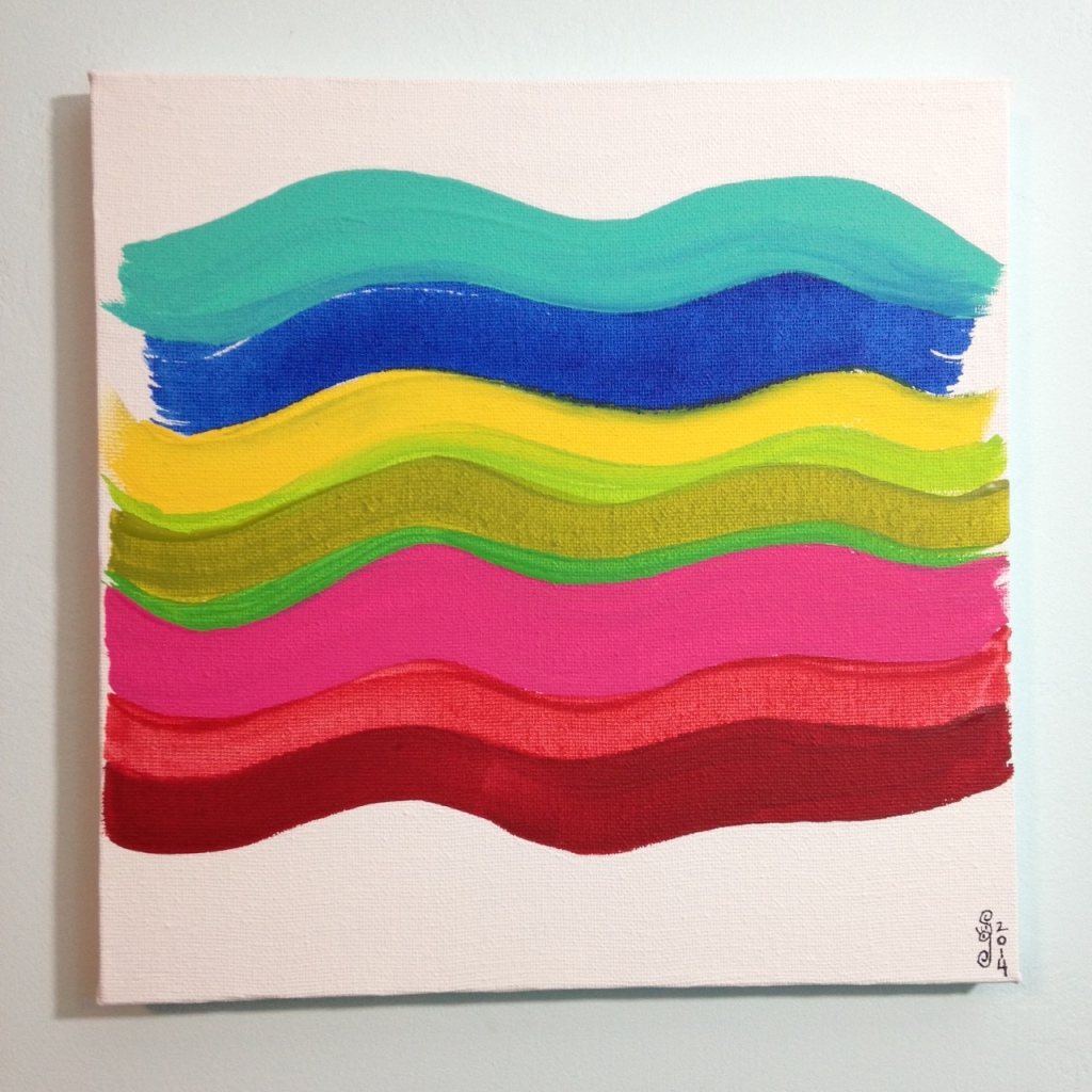 Summer Stache- Tribute to Pat Lipsky Linda Cleary 2014 Acrylic on Canvas