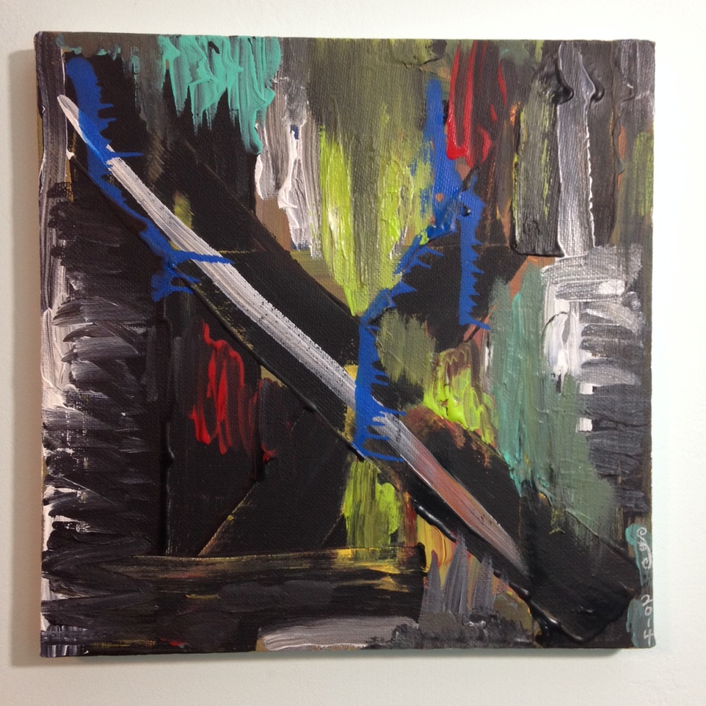 Feel the Pain- Tribute to Louise Fishman Linda Cleary 2014 Acrylic on Canvas