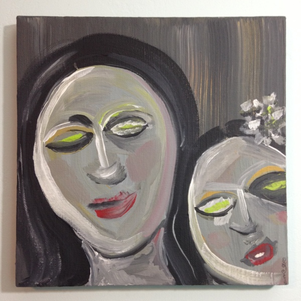 Like Mother Like Daughter- Tribute to Eva Hesse Linda Cleary 2014 Acrylic on Canvas