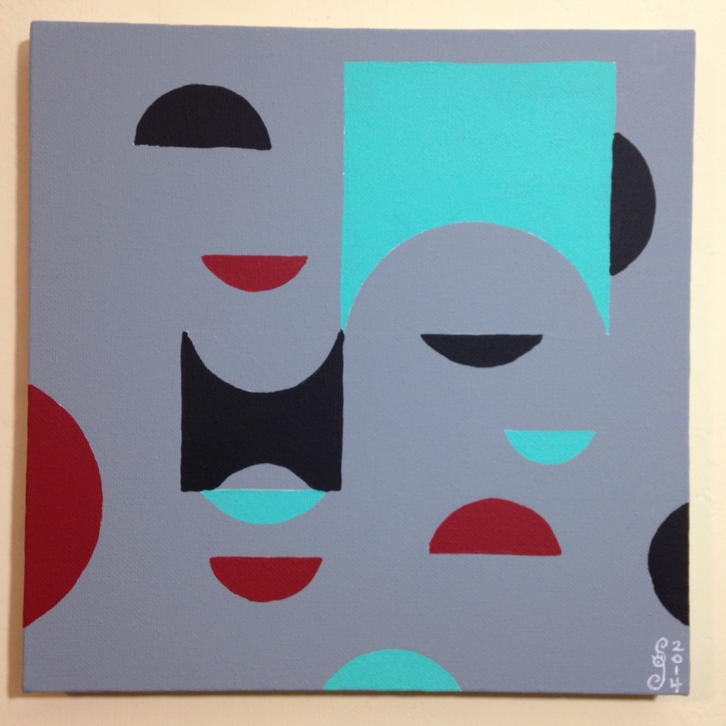 Untitled 124- Tribute to Tomás Maldonado Linda Cleary 2014 Acrylic on Canvas