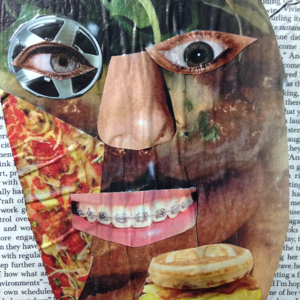 Close-Up 2 What A Deal!- Tribute to John McHale Linda Cleary 2014 Collage Mixed Media on Canvas