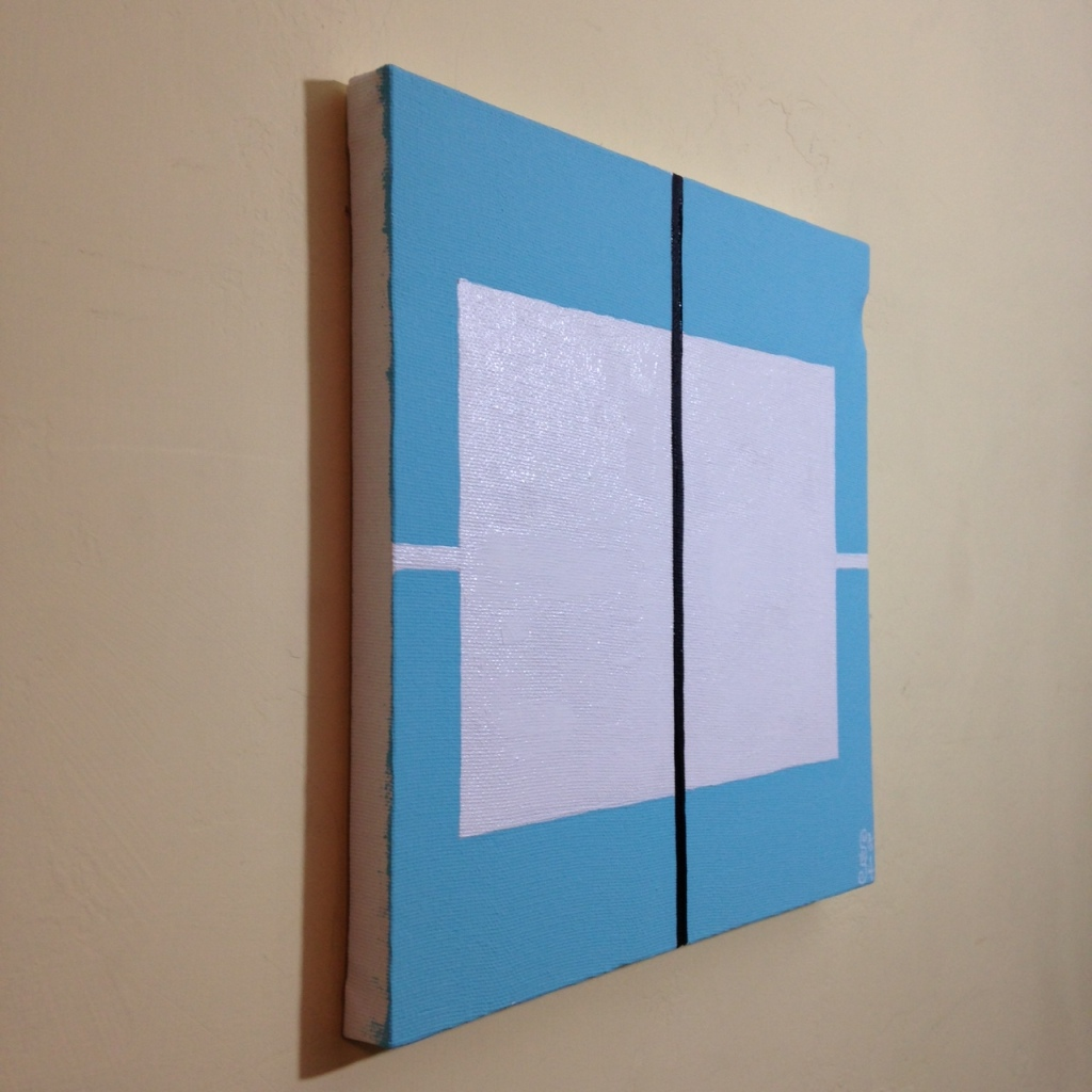 Side-View Untitled 121- Tribute to Donald Judd Linda Cleary 2014 Acrylic on Canvas