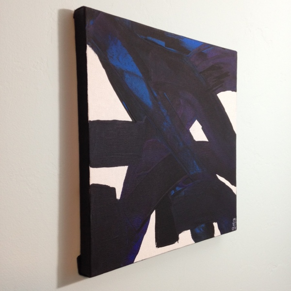 Side-View Peinture CXXXIV- Tribute to Pierre Soulages Linda Cleary 2014 Acrylic on Canvas