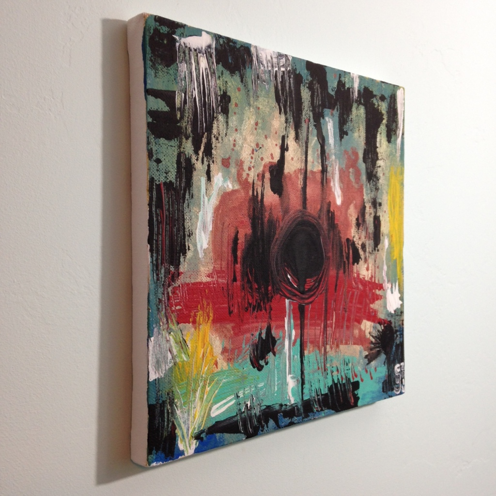 Side-View Untitled 135- Tribute to Wols Linda Cleary 2014 Acrylic on Canvas