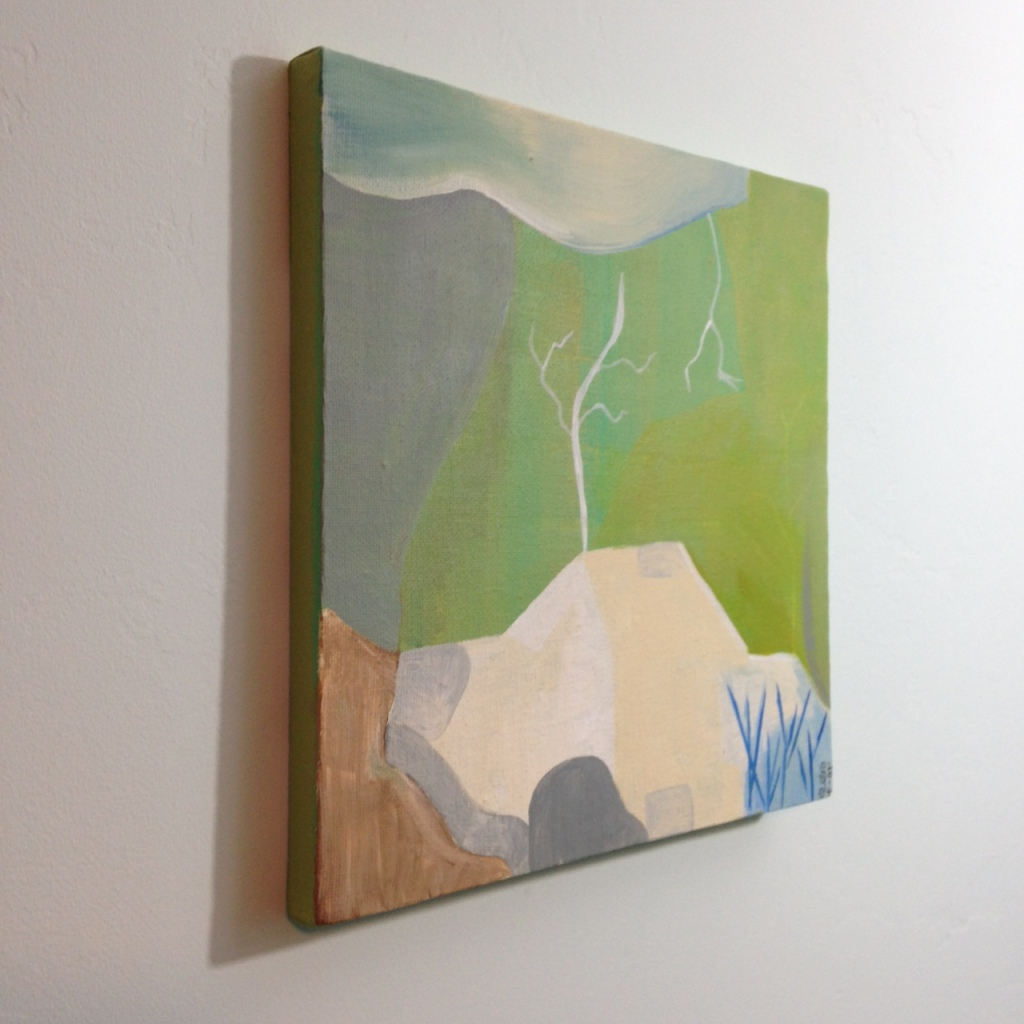 Side-View Mountain- Tribute to Kenzo Okada Linda Cleary 2014 Acrylic on Canvas