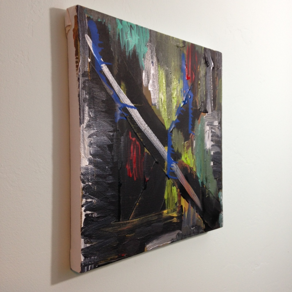 Side-View Feel the Pain- Tribute to Louise Fishman Linda Cleary 2014 Acrylic on Canvas