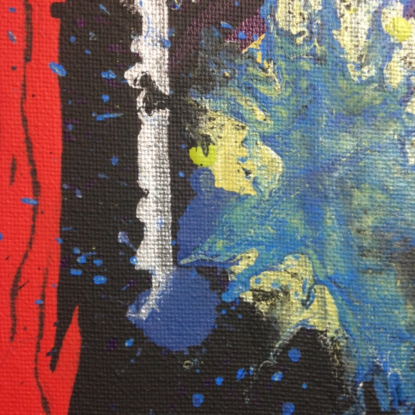 Close-Up 3 Nervous Joy- Tribute to John Hoyland Linda Cleary 2014 Acrylic on Canvas