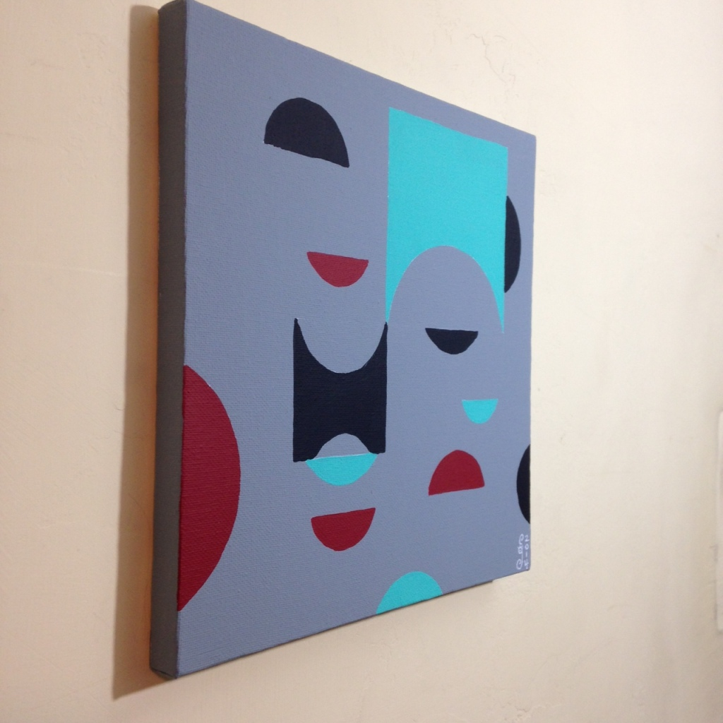 Side-View Untitled 124- Tribute to Tomás Maldonado Linda Cleary 2014 Acrylic on Canvas