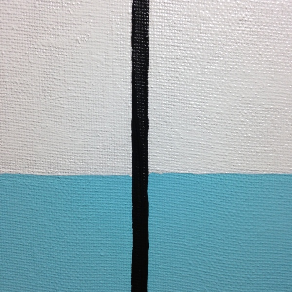 Close-Up 1 Untitled 121- Tribute to Donald Judd Linda Cleary 2014 Acrylic on Canvas