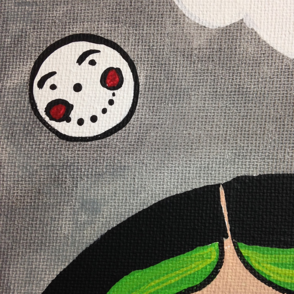 Close-Up 1 Catman Balloon- Tribute to Aurie Ramirez Linda Cleary 2014 Acrylic on Canvas