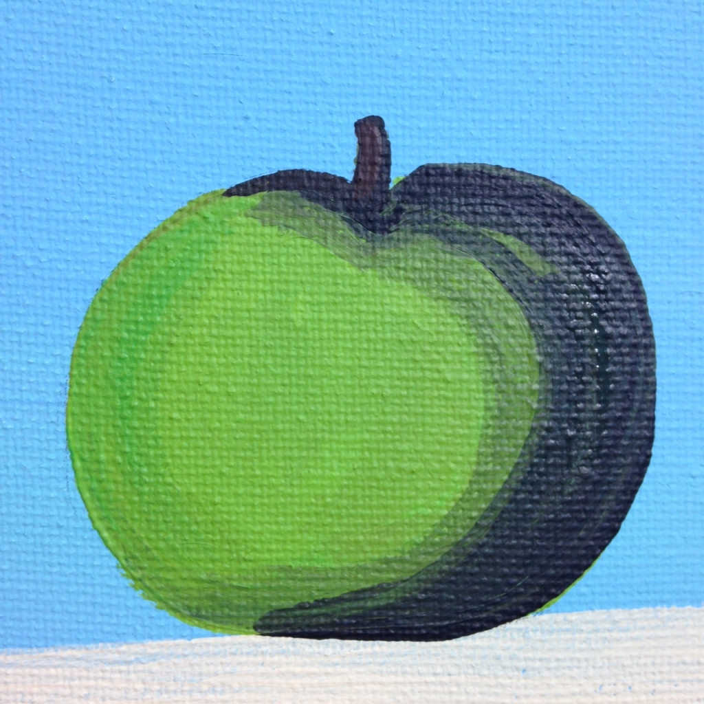 Close-Up 1 The Elusive Mystery- Tribute to Rene Magritte Linda Cleary 2014 Acrylic on Canvas