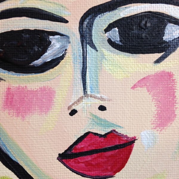 Close-Up 1 Portrait of a Woman- Tribute to Maurice de Vlaminck Linda Cleary 2014 Acrylic on Canvas