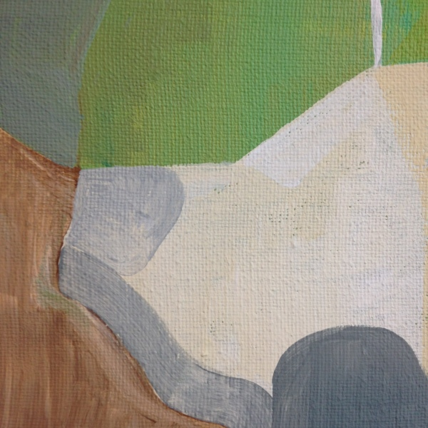 Close-Up 1 Mountain- Tribute to Kenzo Okada Linda Cleary 2014 Acrylic on Canvas