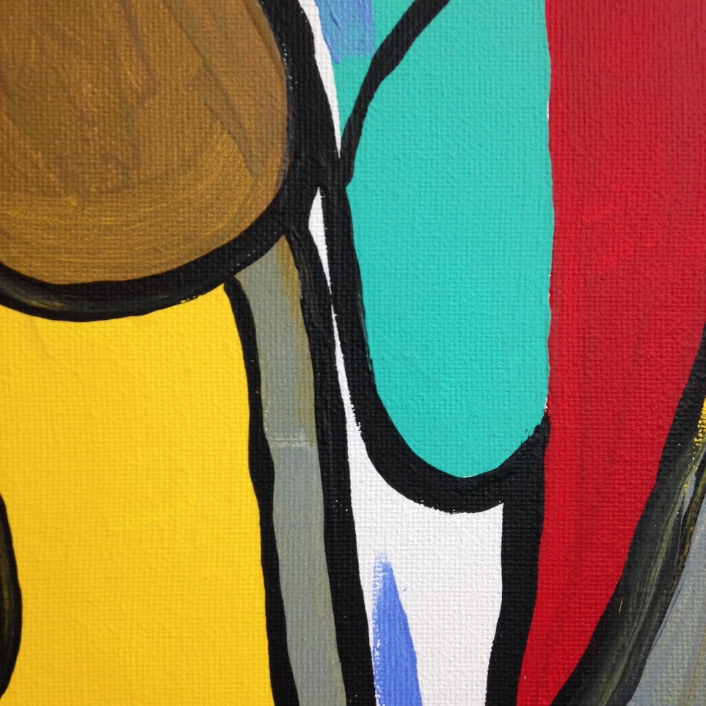 Close-Up 1 Untitled 142- Tribute to Bram Van Velde Linda Cleary 2014 Acrylic on Canvas