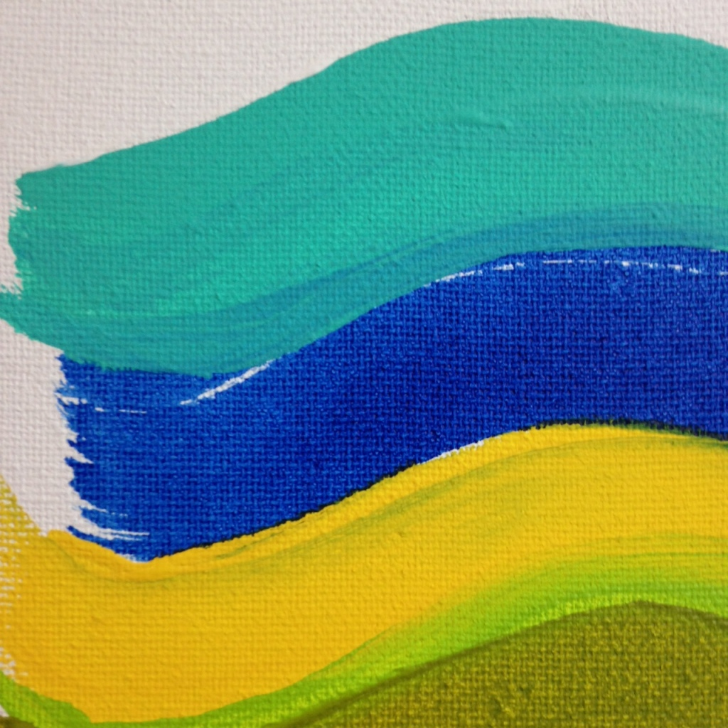 Close-Up 1 Summer Stache- Tribute to Pat Lipsky Linda Cleary 2014 Acrylic on Canvas