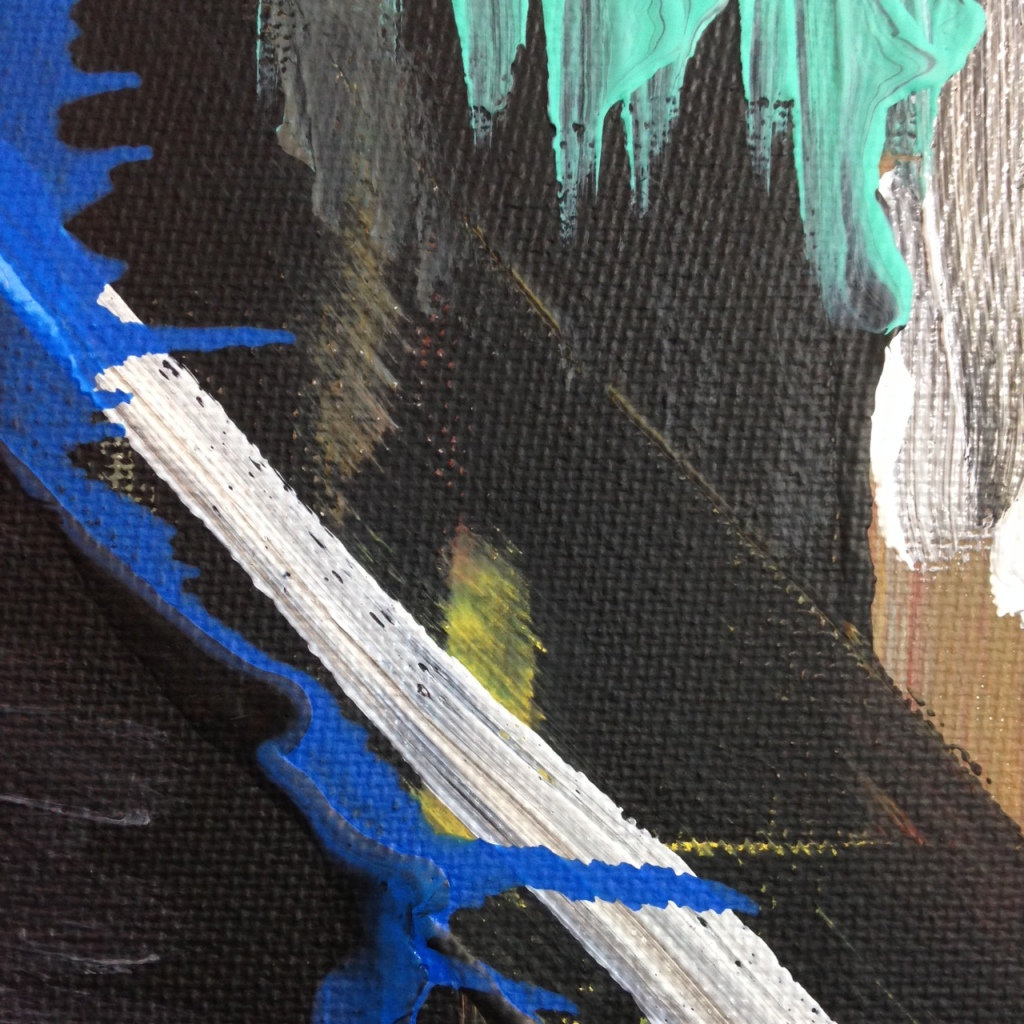 Close-Up 1 Feel the Pain- Tribute to Louise Fishman Linda Cleary 2014 Acrylic on Canvas