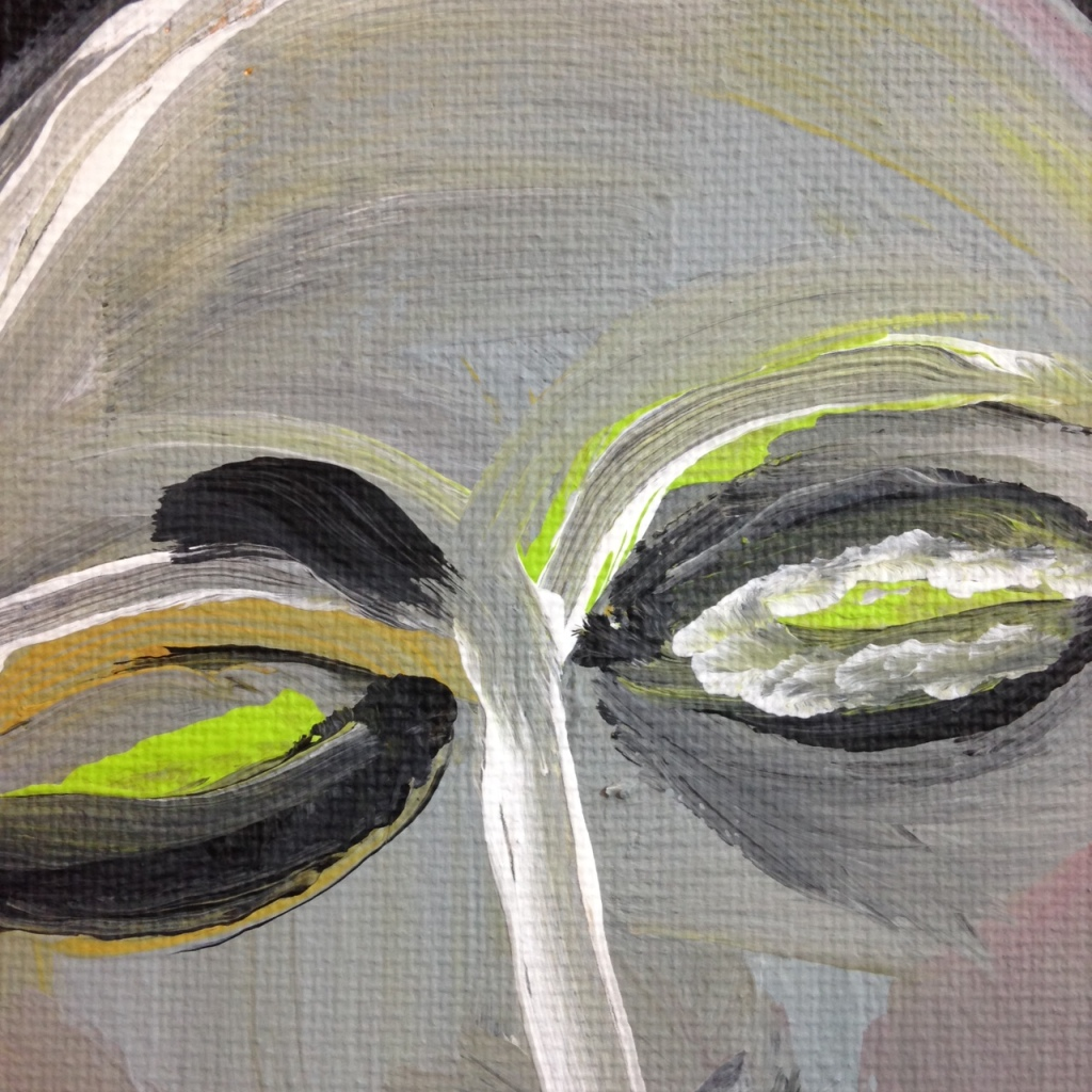 Close-Up 1 Like Mother Like Daughter- Tribute to Eva Hesse Linda Cleary 2014 Acrylic on Canvas