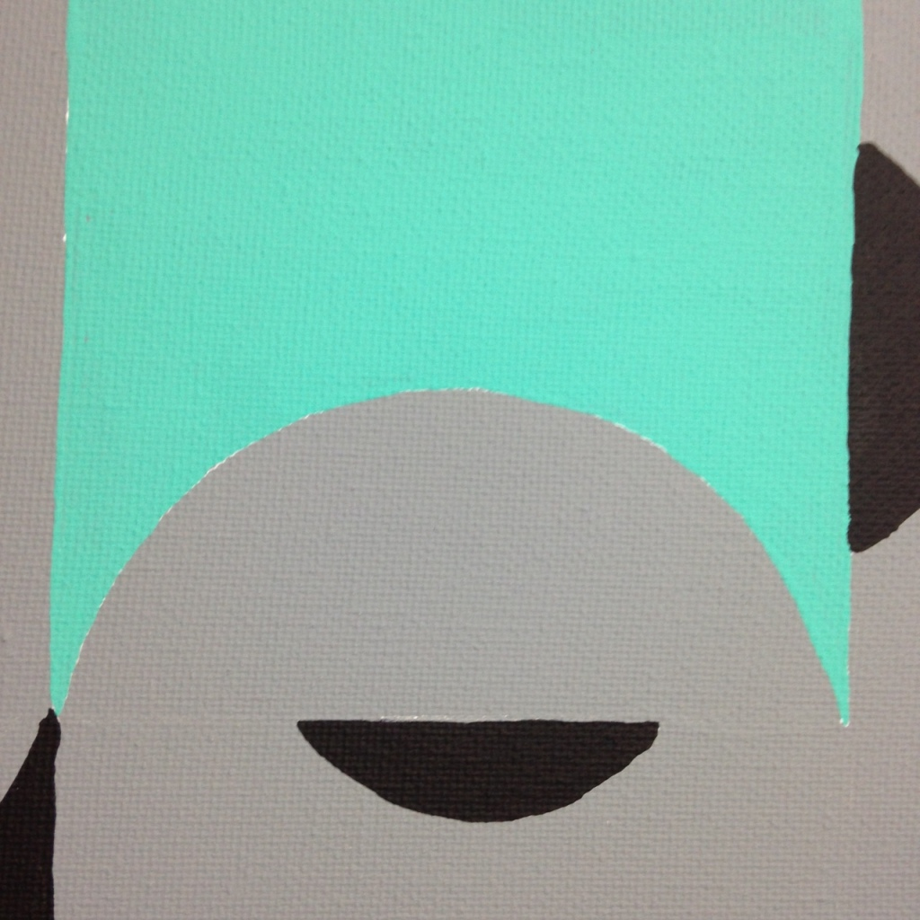 Close-Up 1 Untitled 124- Tribute to Tomás Maldonado Linda Cleary 2014 Acrylic on Canvas