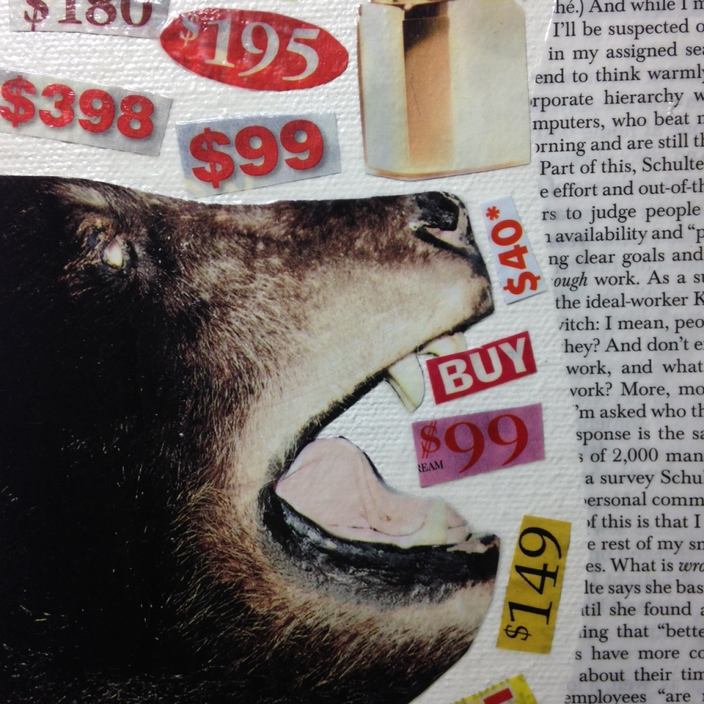 Close-Up 1 What A Deal!- Tribute to John McHale Linda Cleary 2014 Collage Mixed Media on Canvas