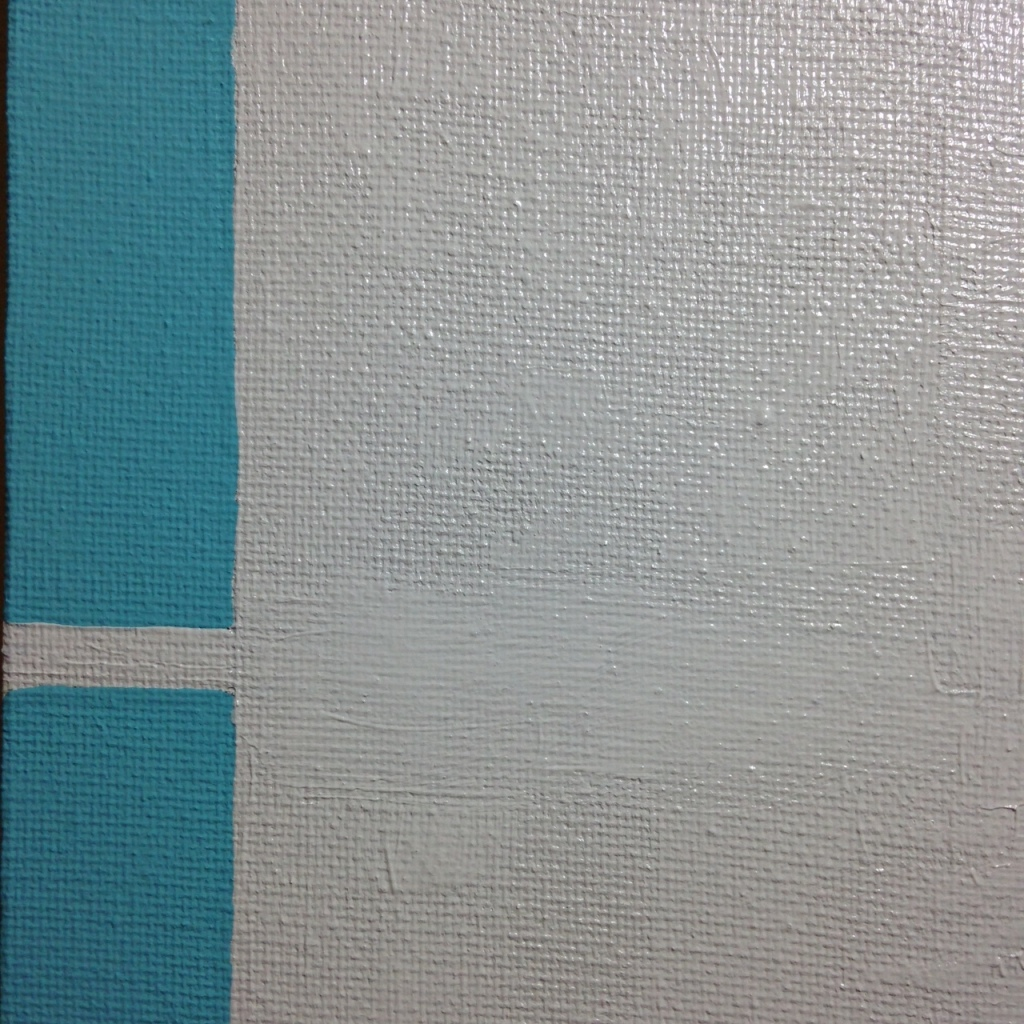 Close-Up 2 Untitled 121- Tribute to Donald Judd Linda Cleary 2014 Acrylic on Canvas