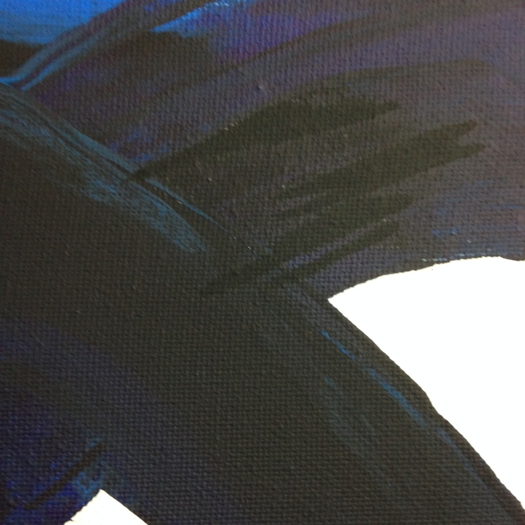 Close-Up 2 Peinture CXXXIV- Tribute to Pierre Soulages Linda Cleary 2014 Acrylic on Canvas