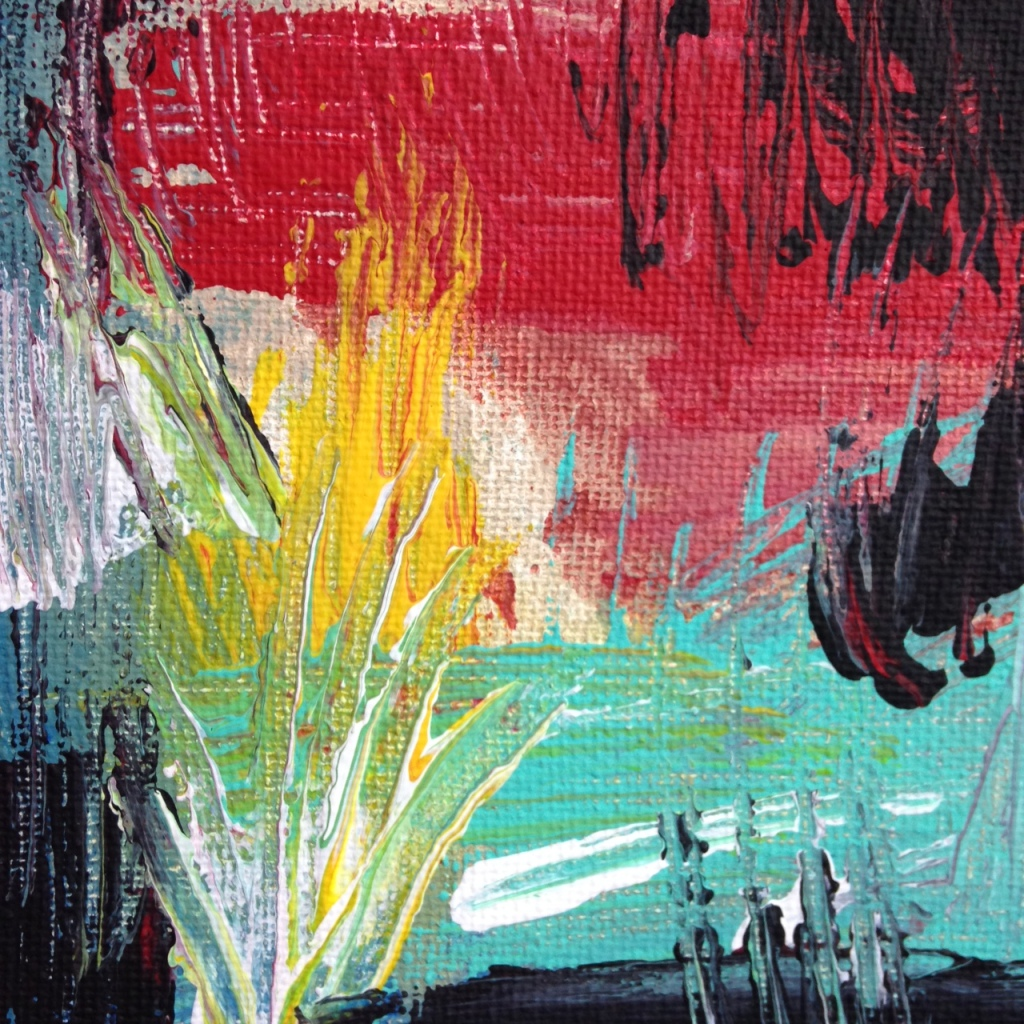 Close-Up 2 Untitled 135- Tribute to Wols Linda Cleary 2014 Acrylic on Canvas