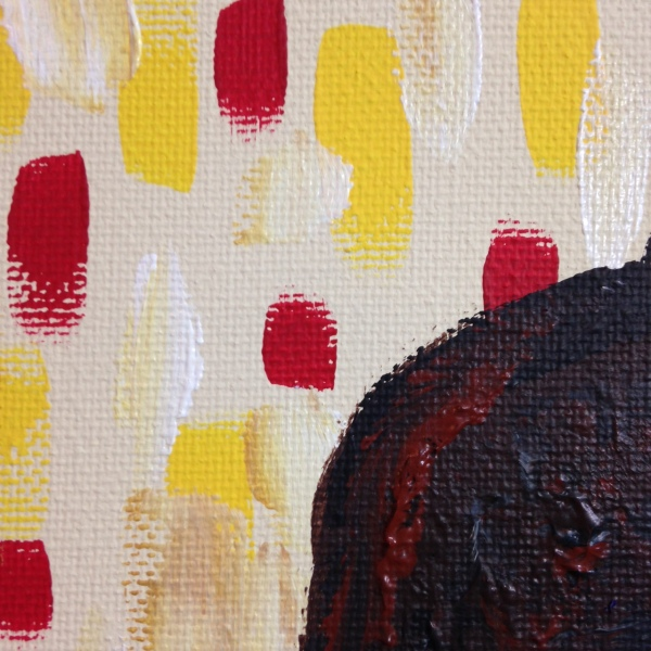 Close-Up 2 Portrait of a Woman- Tribute to Maurice de Vlaminck Linda Cleary 2014 Acrylic on Canvas