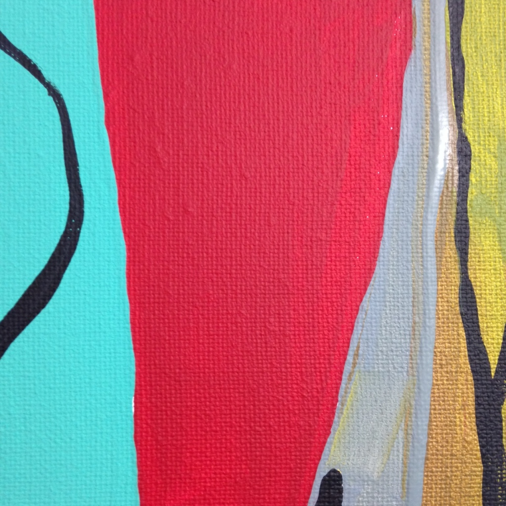 Close-Up 2 Untitled 142- Tribute to Bram Van Velde Linda Cleary 2014 Acrylic on Canvas