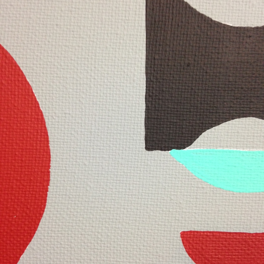 Close-Up 2 Untitled 124- Tribute to Tomás Maldonado Linda Cleary 2014 Acrylic on Canvas