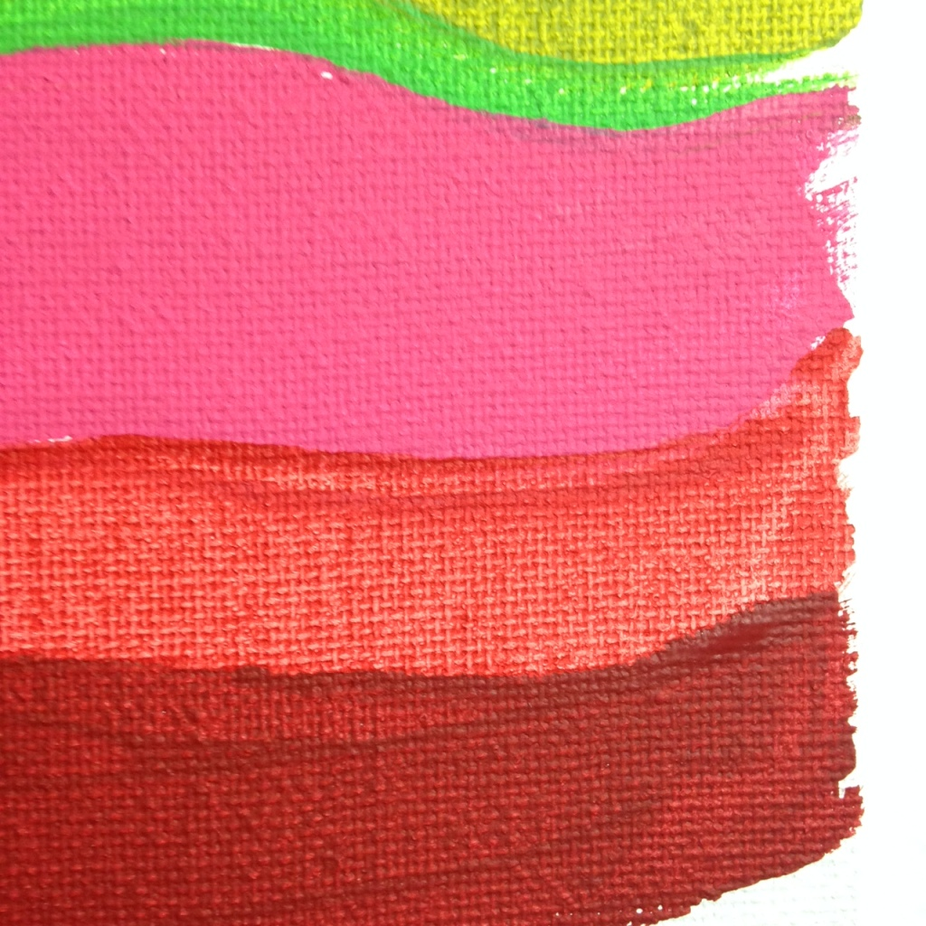 Close-Up 2 Summer Stache- Tribute to Pat Lipsky Linda Cleary 2014 Acrylic on Canvas