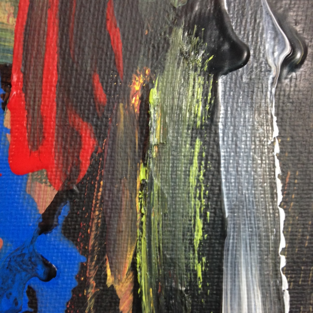 Close-Up 2 Feel the Pain- Tribute to Louise Fishman Linda Cleary 2014 Acrylic on Canvas