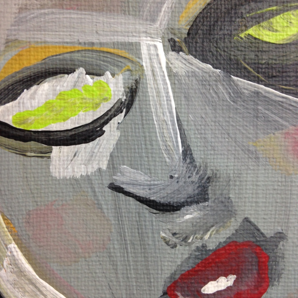 Close-Up 2 Like Mother Like Daughter- Tribute to Eva Hesse Linda Cleary 2014 Acrylic on Canvas