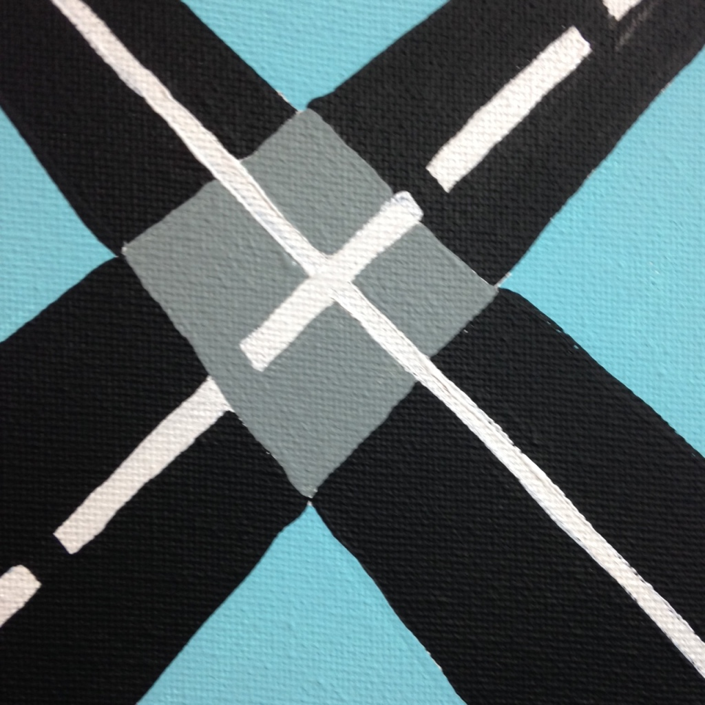 Close-Up 2 Intersection- Tribute to Allan D'Arcangelo Linda Cleary 2014 Acrylic on Canvas