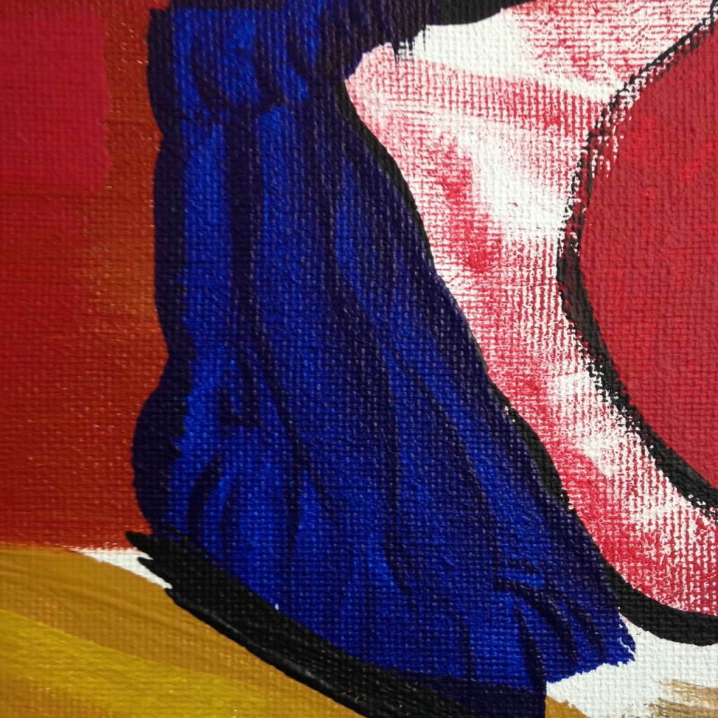 Close-Up 2 May 2014- Tribute to Roger Hilton Linda Cleary 2014 Acrylic on Canvas