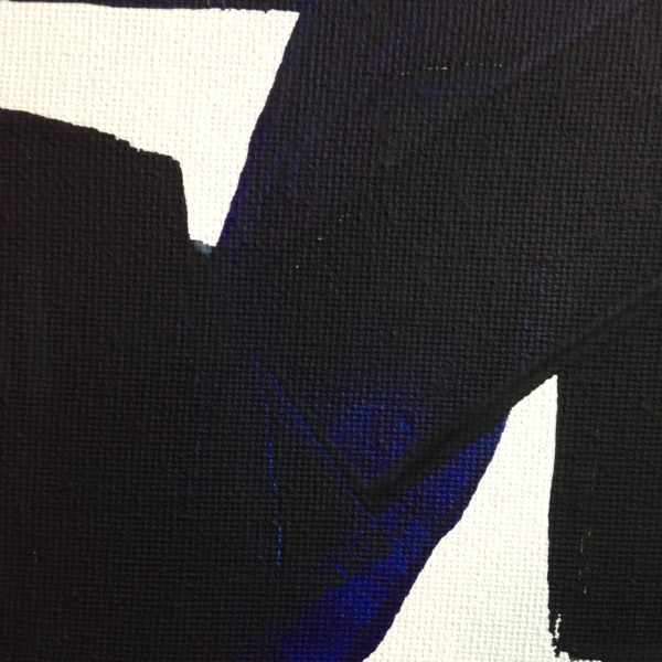 Close-Up 3 Peinture CXXXIV- Tribute to Pierre Soulages Linda Cleary 2014 Acrylic on Canvas