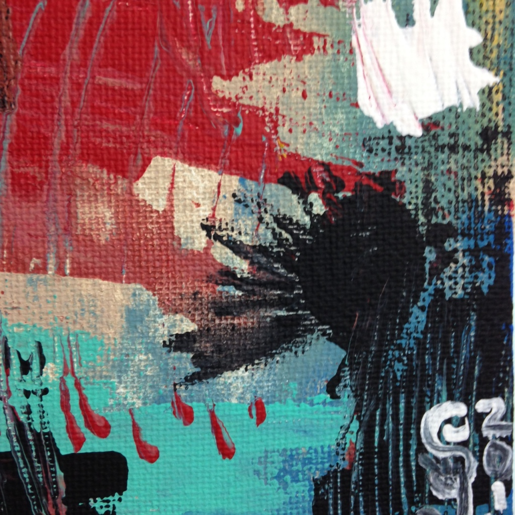 Close-Up 3 Untitled 135- Tribute to Wols Linda Cleary 2014 Acrylic on Canvas