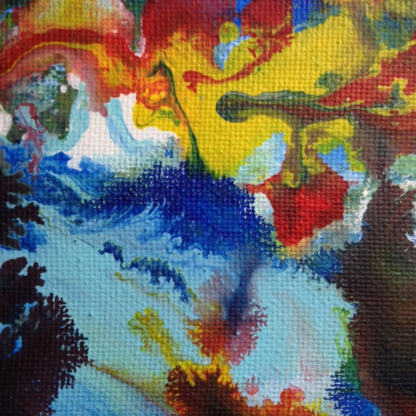 Close-Up 3 Spring Wind- Tribute to Sam Francis Linda Cleary 2014 Acrylic on Canvas